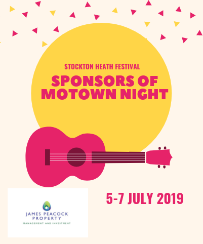 Proudly Sponsoring Stockton Heath Festival 5-7 July 2019