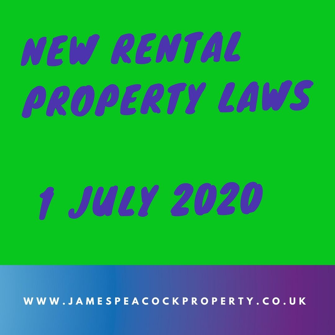 1 July 2020 NEW LAW affecting rental properties